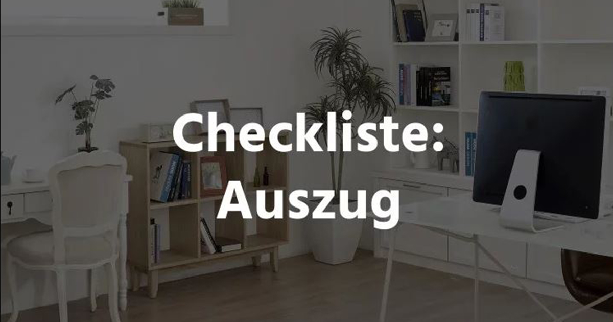 checkliste ich ziehe aus froker me. Black Bedroom Furniture Sets. Home Design Ideas